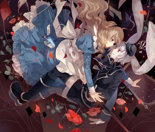 Alice x White Rabbit (Alice in Wonderland)