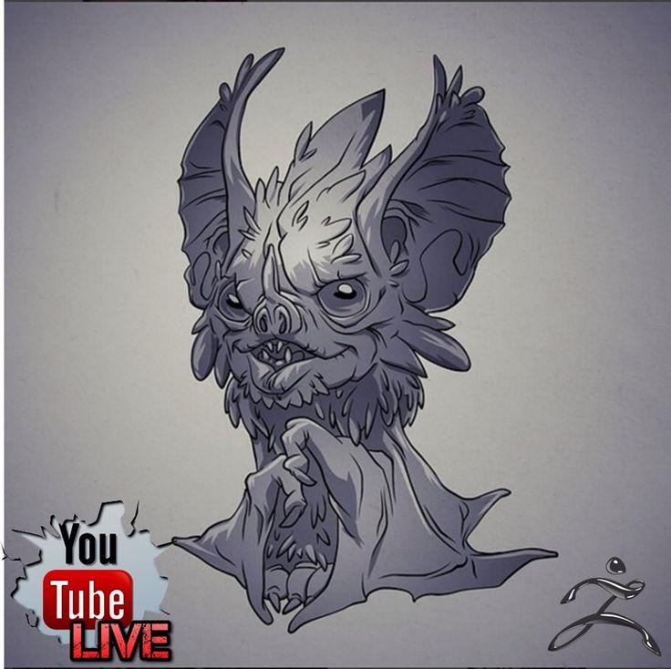 Scott Wetterschneider Bat 3D modeling Live stream