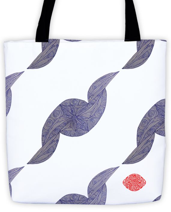 Deft Dark Blue Scribble Tote (x3) by: Eyes of Beijing