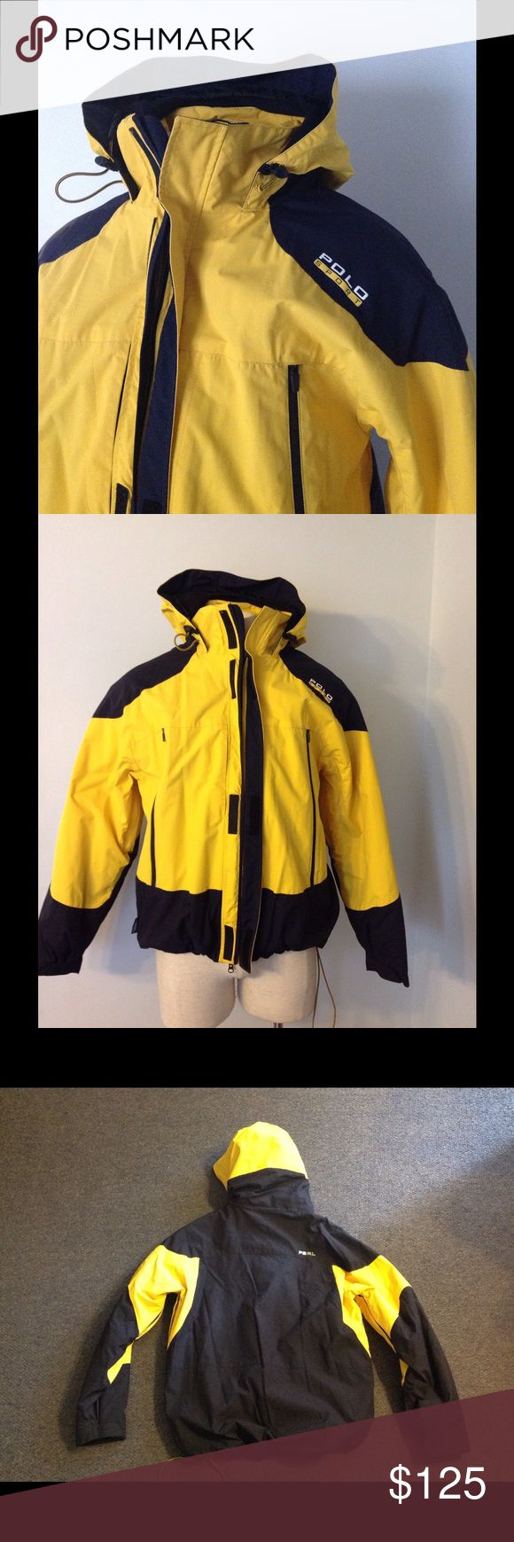 "Ralph Lauren Polo Sport Hooded Coat L XL ❤️SALE❤️ Very nice RL Polo Sport Jacket/Coat.  Zip up with Velcro over top. Lined in fleece. Marked an XL but may run a bit smaller. Great condition. Chest 50"" Length 28"" in the front from the shoulder and a little longer in the back. Polo by Ralph Lauren Jackets & Coats"