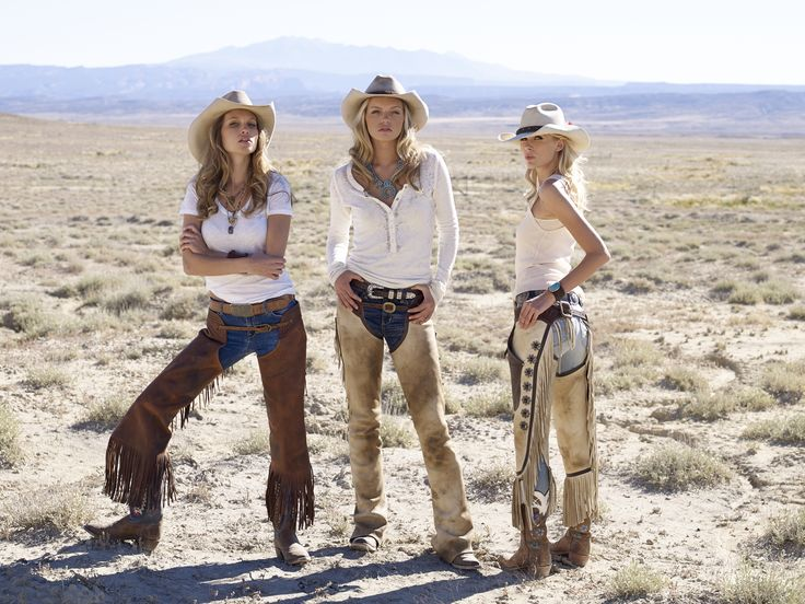 Sexy cowgirls wearing Stetson Hats distressed by Kemo Sabe, Bohlin Trophy Buckle, Clint Orms Ranger Buckle, Kemo Sabe boots made by Rios of Mercedes, Maria Lightfoot Necklaces, Vintage Concho Belt, VIntage Squash Blossom