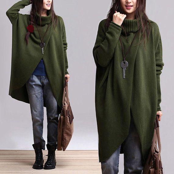 3Colors lungo sciolto a maglia maxi cardigan più dimensioni Blusa oversize di cotone a maniche lunghe cappotto cappotto inverno autunno primavera AOLO-445
