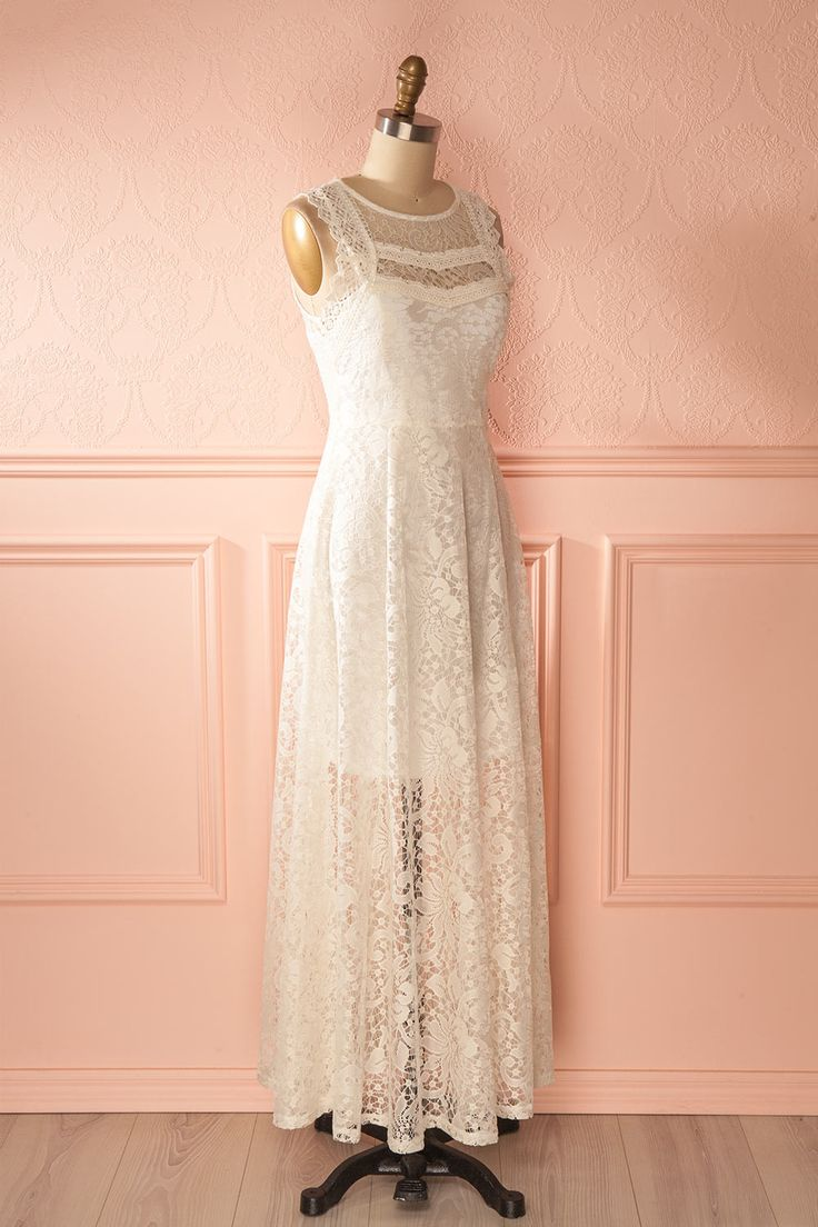 Yola Neige - Ivory maxi lace dress