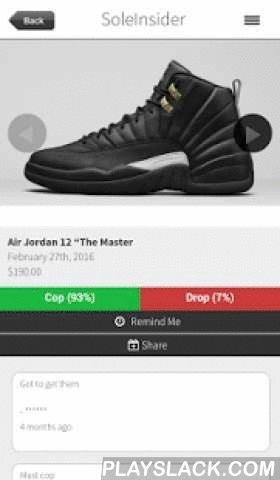 Sneaker Release Dates  Android App - playslack.com ,  #1 App for SneakerHeads. All the hottest sneaker release dates. All our release dates are verified and up to date with the lastest pictures. Keep up with all your kicks!We feature all the lastest Jordan, Nike, Adidas, Ronnie Fieg, Puma release dates. We love our Jordans and we're sneakerhead just like you!So if you want to keep up with all the latest kicks and want to keep track of all the lastest release dates, download SoleInsider and…