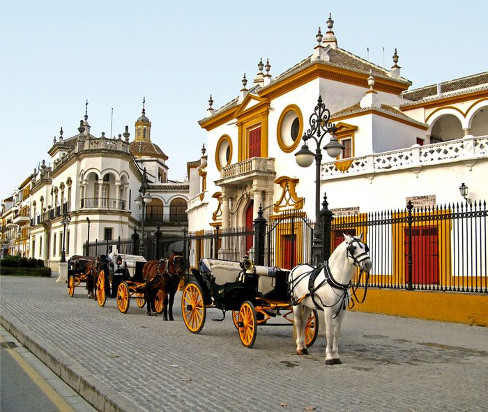 Seville, Real Maestranza bullring. Andalusia, Spain to think I used live near the ring ahhh Sevilla