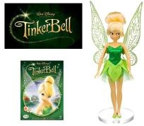"""Disney's Tinkerbell DVD Collector's Gift Set w/Tinkerbell 11"""" Exclusive Doll Free Shipping"""