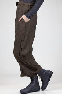 pantaloni ampi a uomo in garza di lino lavata e stropicciata - DANIELA GREGIS