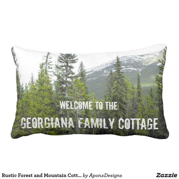 Rustic Forest and Mountain Cottage Welcome Pillow