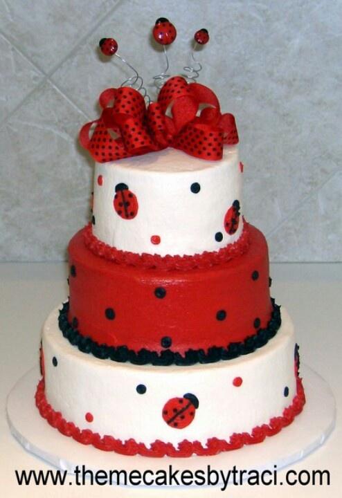 528 Best Ladybug Cakes Images On Pinterest Ladybug Party Ladybugs