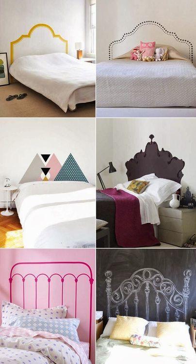 ideias de cabeceiras de cama diferentes