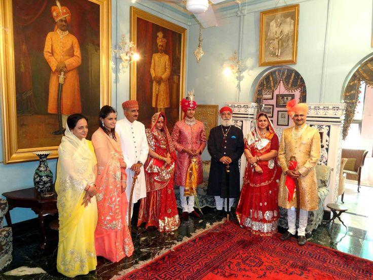 Royal family members of Rajkot and Dungarpur