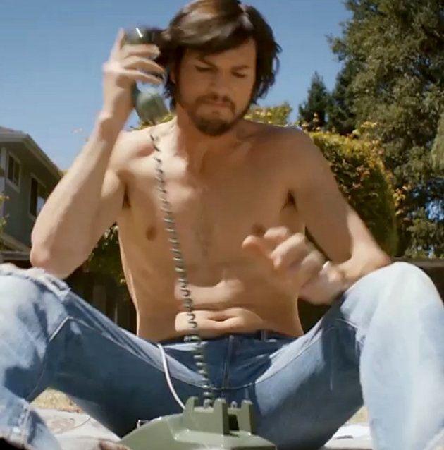 Ashton Kutcher Shirt Off   Ashton Kutcher, shirtless Steve Jobs (Photo from Jobsthefilm/Instagram ...