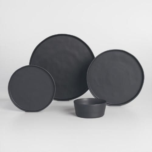 Organic black dinnerware.   I don't know why, but I think these matte black plates are so insanely cool.