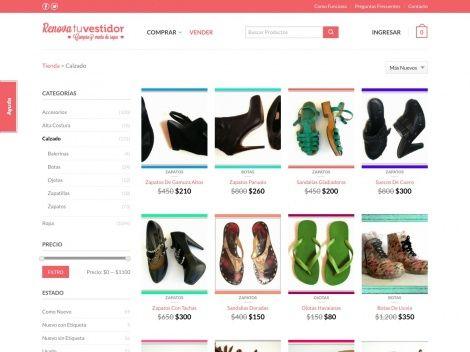 """Tienda online de Calzado de """"Renová tu Vestidor"""""""