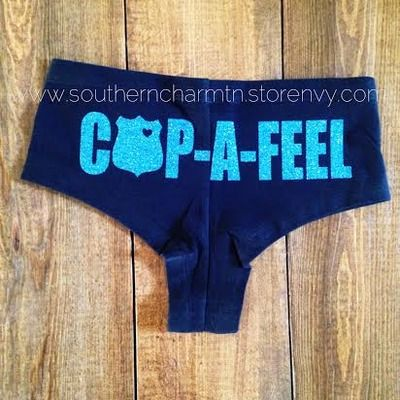 Cop-a-feel leo police officer boy shorts for Police Wives