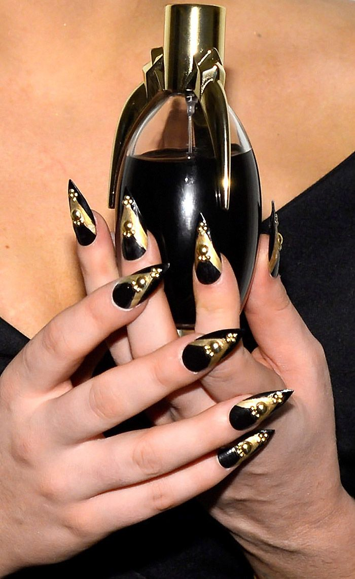 """Lady Gaga """"Fame"""" Eau de Parfum Launch - Look at those nails! A little pointy, but I love the design!"""
