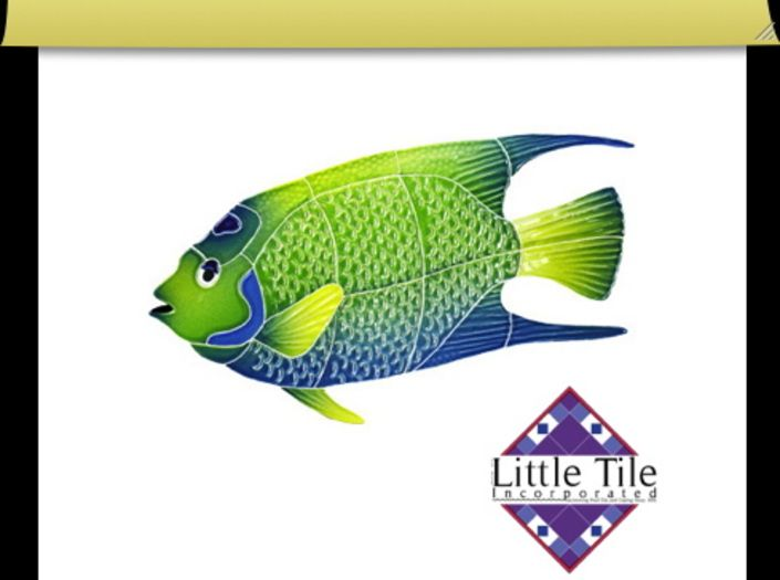 Little Tile Inc - online source to Angelfish Series swimming pool mosaics. Pool Mosaics Sales. Shipped to you. PayPal