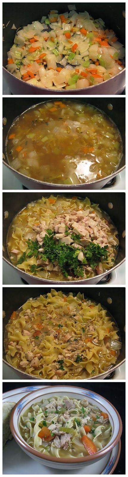 Easy Classic Turkey Noodle Soup - Truelifekitchen