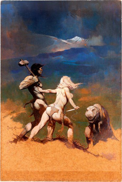 "Original Comic Art:Covers, Frank Frazetta Vampirella #5 Cover Painting ""Cornered""Original Art (Warren Publishing, 1970)...."