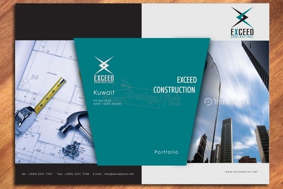 Brochure Design for EXCEED CONSTRUCTION from yourdesignpick.com