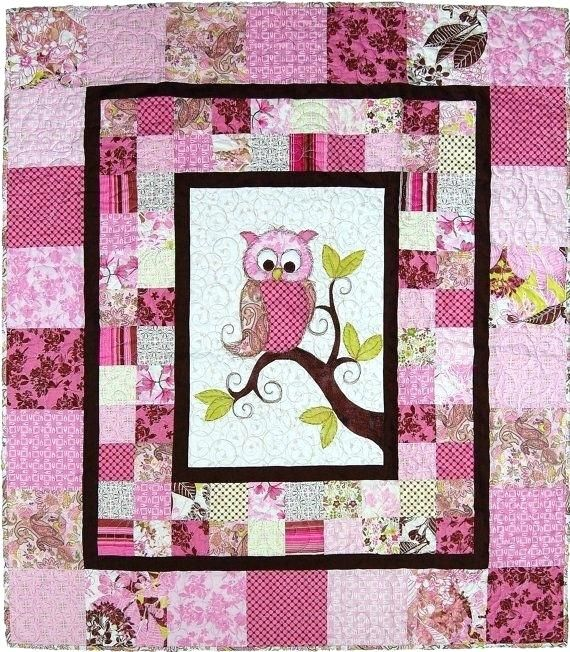 Owl Baby Quilts For Sale Owl Baby Quilt Pattern Free This Adorable Baby Owl Quilt For A Boy Or Girl Makes A Very Special Baby Shower Owl Baby Quilts