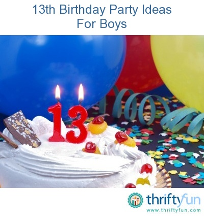 This guide contains 13th birthday party ideas for boys. A fun party can be planned for these energetic boys.