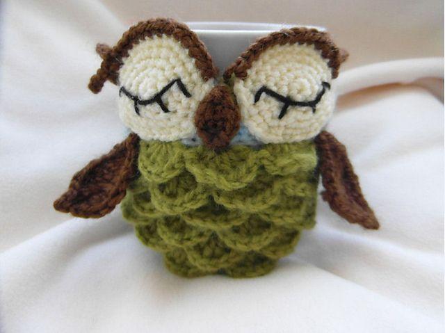 Ravelry: Owl mug cozy pattern