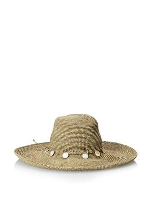 73% OFF Florabella Women's Charis Crochet Raffia Hat, Sage, One Size