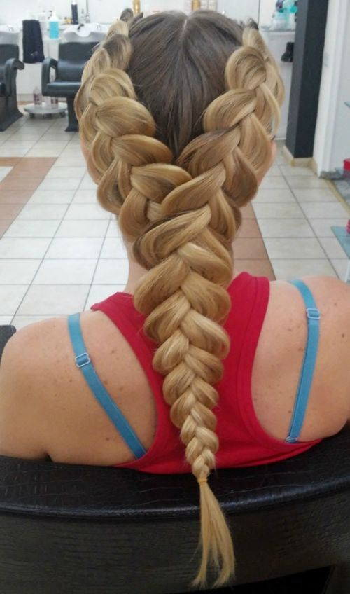 two in one dutch braids hairstyle