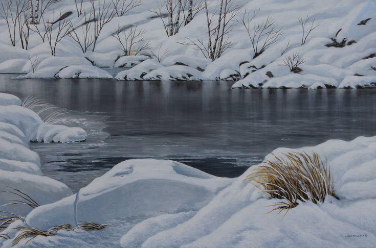 """""""Frozen"""" - Acrylic  24 x 36  www.lindamullola.com"""
