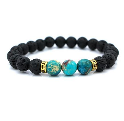 The Black Lava Protection Bracelet features 8mm stunning Lava beads, with 3 accented blue protection beads.  These beads represent protection, and safety thro
