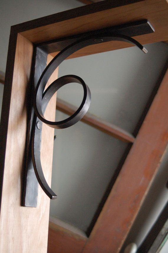 Modern Metal Shelf Bracket, Iron Shelf Brackets - Style 03 Perfect for under bar top