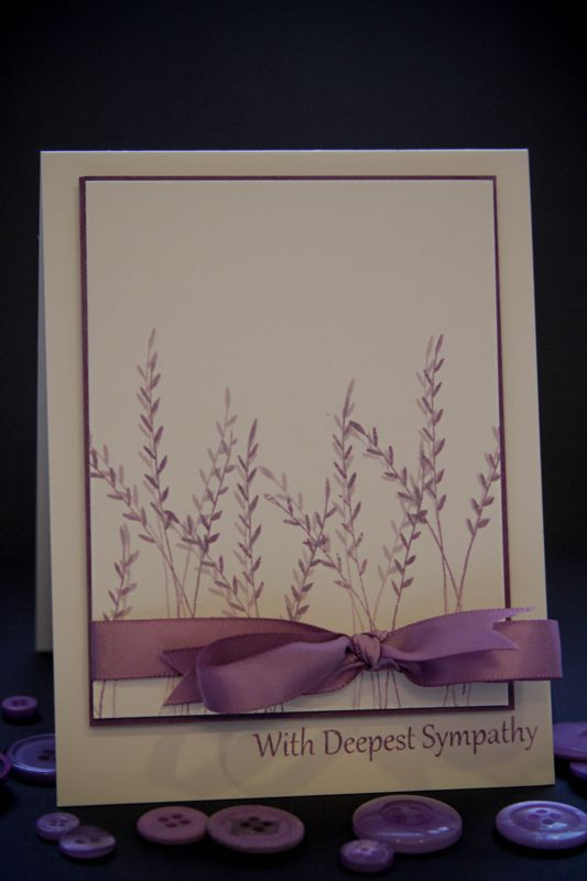 Becky Oehler's clean and simple sympathy card