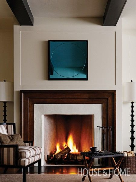Simple fireplace by barbara barry contemporary for Simple foyer designs
