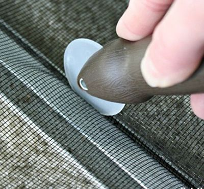 How To Replace Window Screens.  My husband has done this, and it's super simple.  Nice blog...