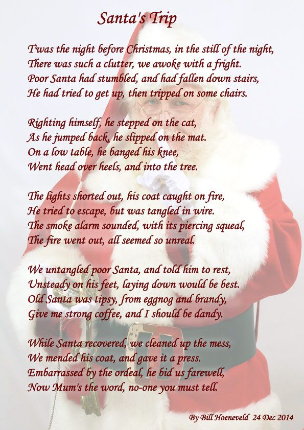 Santa's Trip - Holiday Poems