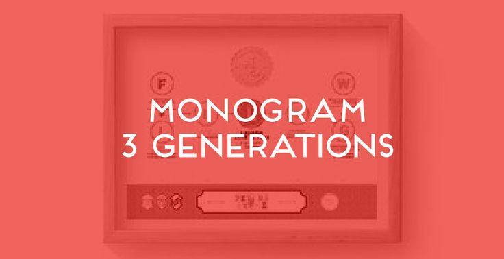 Monogram 3 Generations. The Family Tree Co ©