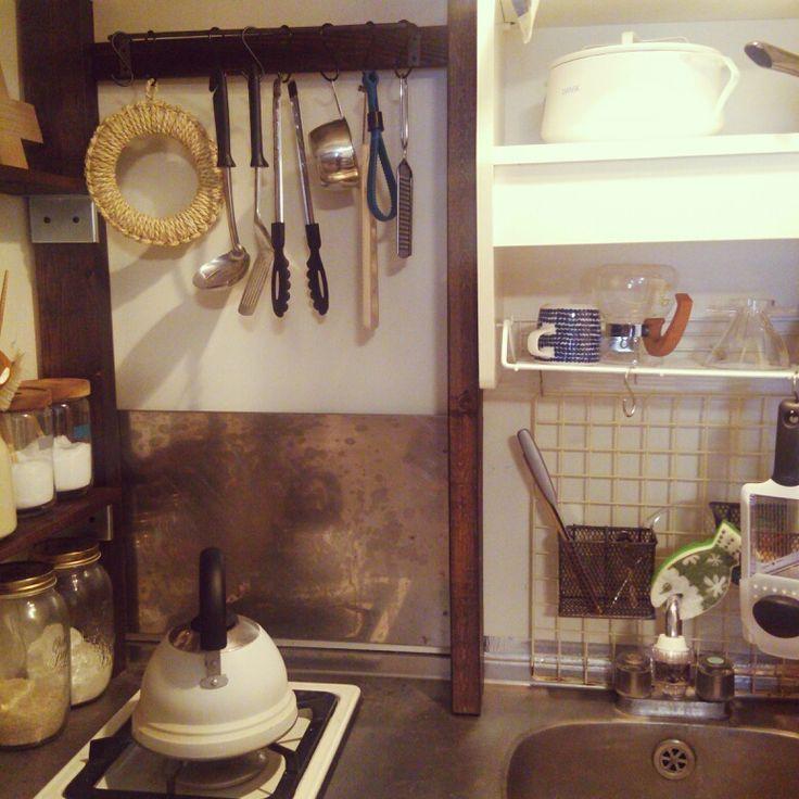 キッチン Diy 狭いキッチン キッチン収納 一人暮らしのインテリア実例 2014 05 05 11 17 11 Roomclip ルームクリップ キッチン 収納 一人暮らし 狭い キッチン キッチン Diy
