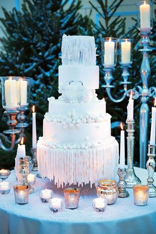 Winter Icicle Cake