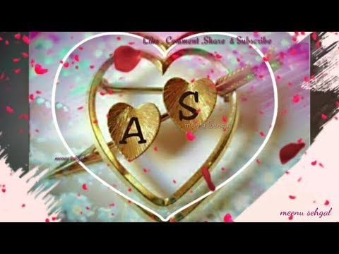 A 💖 & S 💖 Letter WhatsApp Status video - YouTube