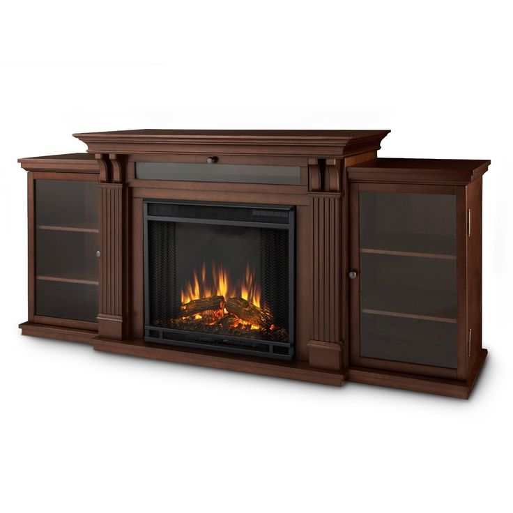 Electric Fireplace TV Stand Dark Espresso Firebox Dual-Cabinets Furniture Large  #Electric #Fireplace #TV #Stand #Dark #Espresso #Firebox #Dual-Cabinets #Furniture #Large