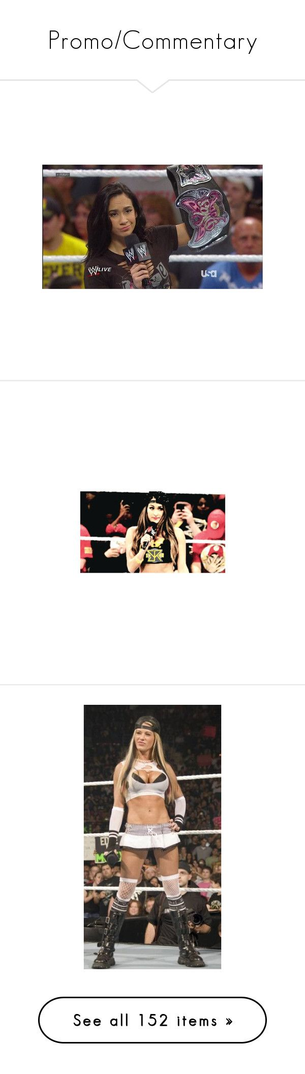 """Promo/Commentary"" by leeandbulletfan ❤ liked on Polyvore featuring wwe, aj lee, home, home decor, ashley massaro, bella twins, frames, people, wwe diva and kaitlyn"