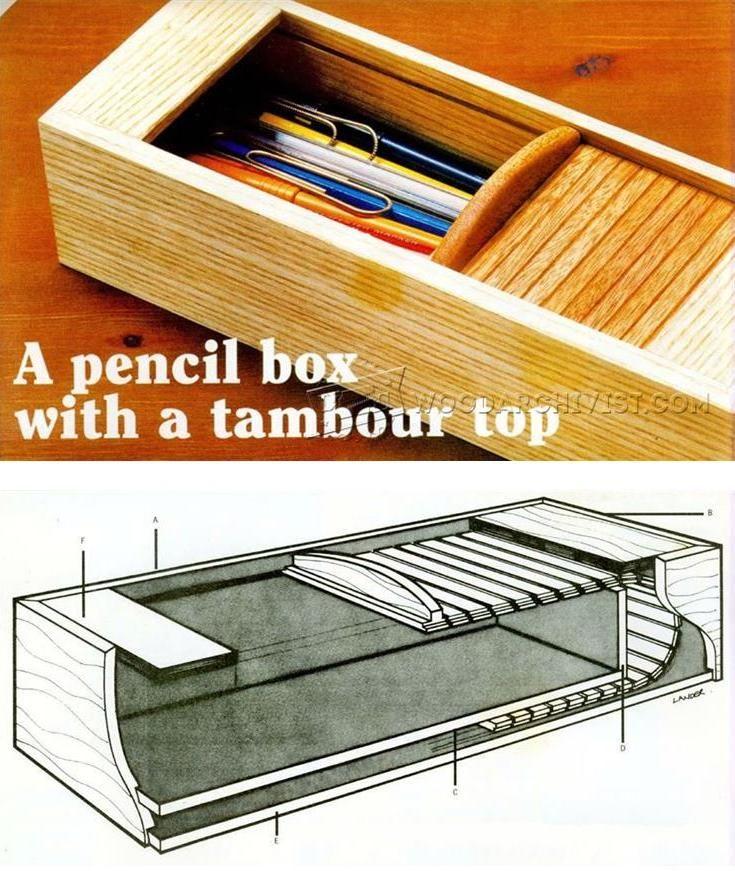 DIY Pencil Case - Woodworking Plans and Projects   WoodArchivist.com