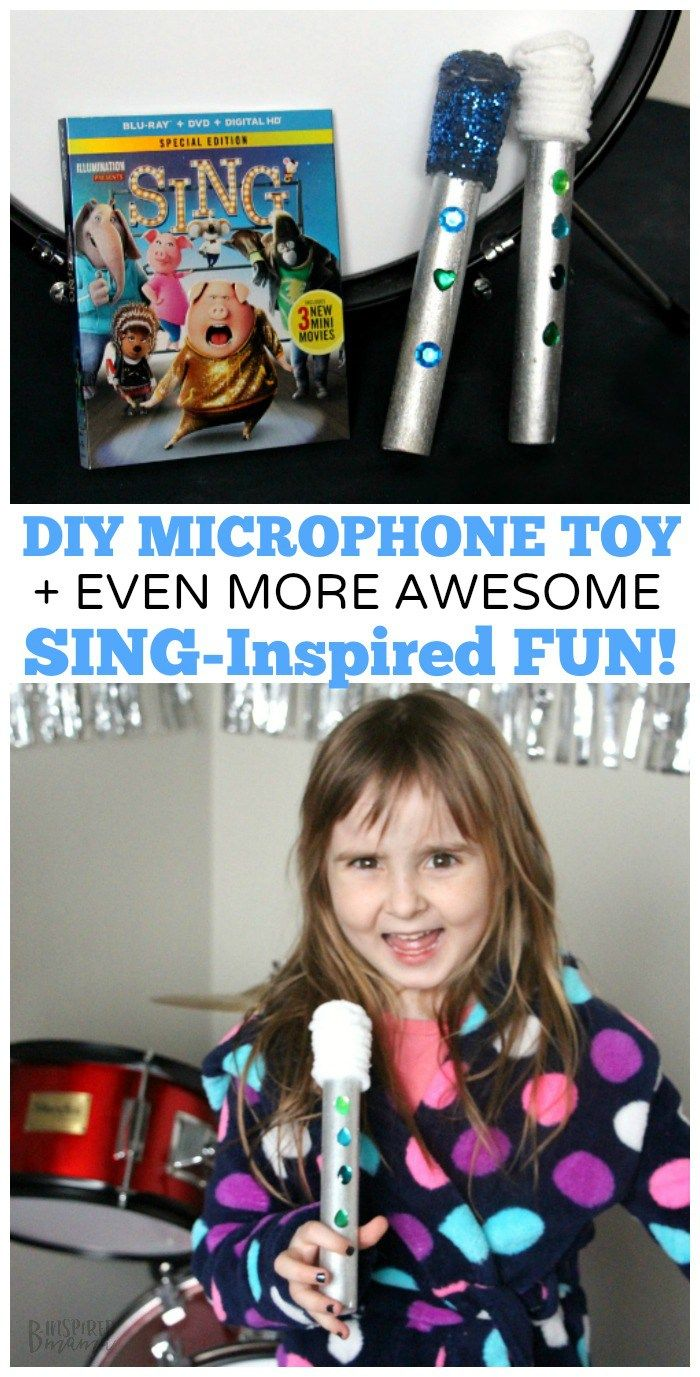 Easy DIY Kids Microphone Toy - Inspired by the Movie SING - Perfect for imaginative play and encouraging a love of music and dance! Sponsored @SingMovie @ParentandChild