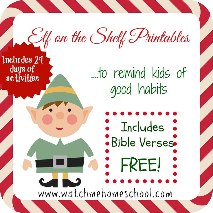 Elf on the Shelf printables that teach good habits to your children. Each of these 11 cards also include a Bible memory verse to help your child create good habits and behavior during this Christmas season!