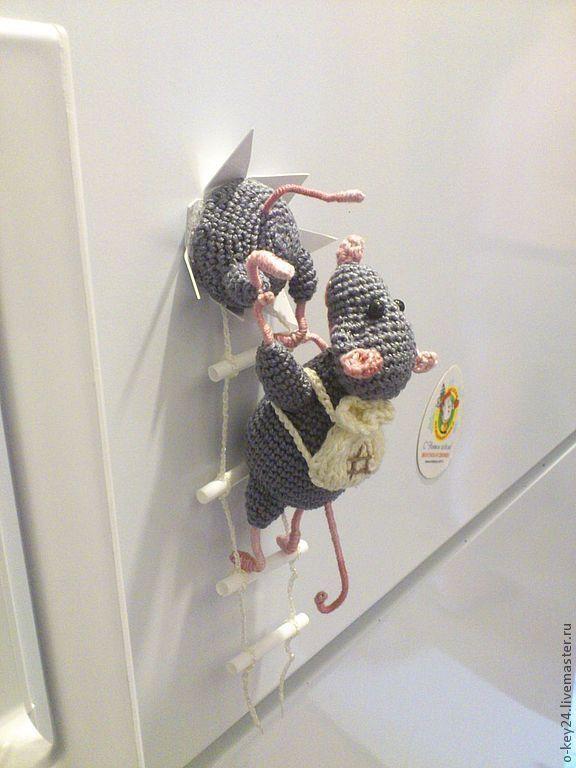 """Kup Lodówka magnes """"Złodzieje myszy."""" - Szczur magnes na lodówce, fajny prezent"""