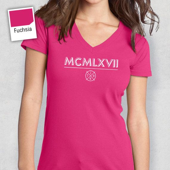 50th Birthday 1967 Roman Numerals Shirt T Shirt by RareOccasions