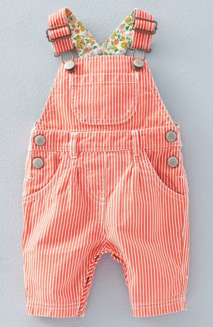 Mini Boden Stripe Overalls (Baby Girls & Toddler Girls)