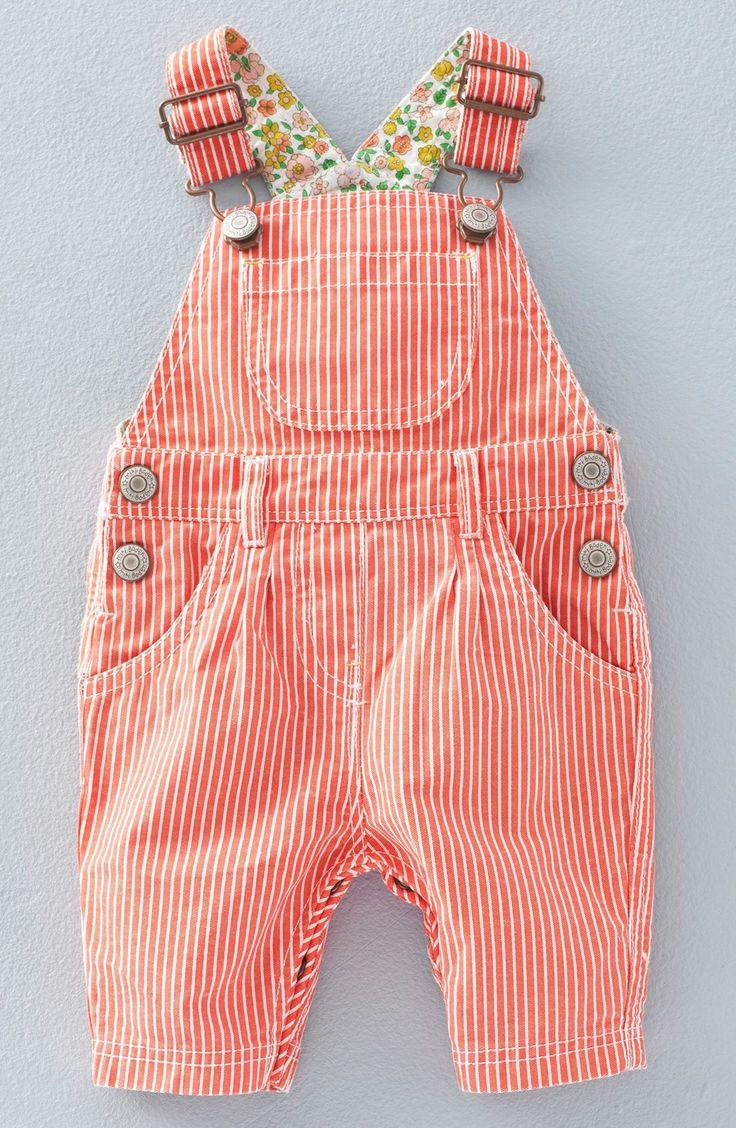 Mini Boden Stripe Overalls (Baby Girls & Toddler Girls)