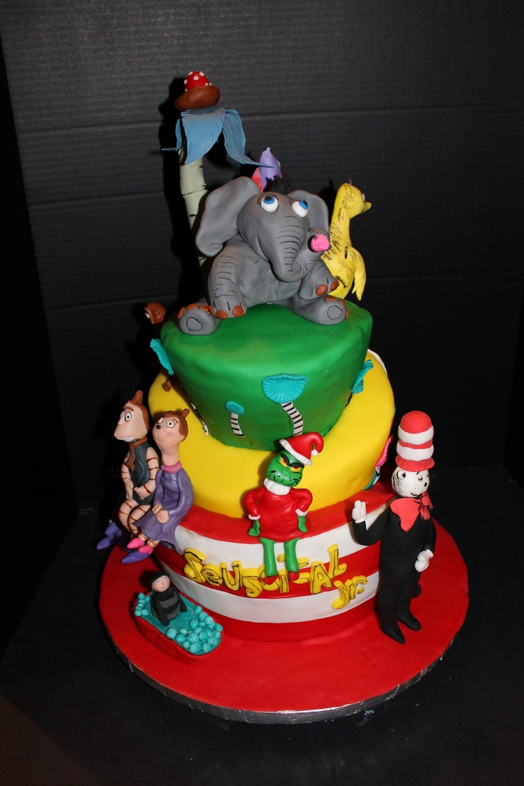 Seussical Cake Made For Middle School Cast Party